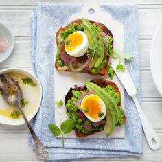 Pea, Pickled Onion, and Hard-Boiled Egg Avocado Toast