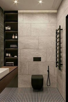 Bathroom decor for the master bathroom remodel. Discover bathroom organization, master bathroom decor suggestions, master bathroom tile ideas, bathroom paint colors, and much more. Bathroom Layout, Modern Bathroom Design, Bathroom Interior, Bathroom Ideas, Bathroom Designs, Bath Ideas, Bath Design, Minimal Bathroom, Tile Layout