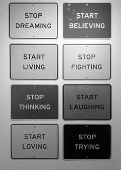 Start living...
