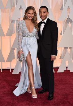 Chrissy Teigen in Zuhair Murad Haute Couture @ Oscars 2015