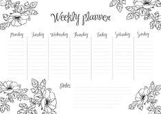 Free Planner, Planner Template, Weekly Planner, Printable Planner, Planner Stickers, Planner Diario, Planner Doodles, School Calendar, Bullet Journal School