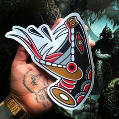 Big Snake Head Tattoo