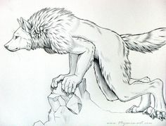 Werewolf Leaning by sarahfinnigan