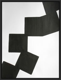 A2 Minimalism Contemporary Black and White Ink by Manjuzaka
