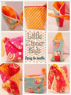 Little Zipper bags easy to make | The Style Sisters