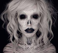 Mixxedmonster 💀 on Instagra Amazing Halloween Makeup, Halloween Make Up, Halloween Costumes, Halloween Face Makeup, Halloween Countdown, Sfx Makeup, Costume Makeup, Makeup Art, Ghost Makeup