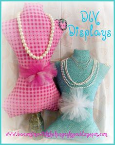 Make your own mannequin for displaying things...good for a craft show or just a way to display your jewelry at home.