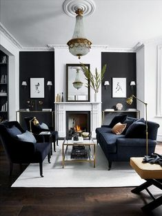 Fabulous Gorgeous Black Living Room Ideas With Gorgeous Black Living Room Ideas. Trendy Gorgeous Black Living Room Ideas With Gorgeous Black Living Room Ideas. Fabulous Gorgeous Black Living Room Ideas With Gorgeous Black Small Living Room Furniture, Living Room Grey, Living Room Sets, Living Room Modern, Interior Design Living Room, Home And Living, Home Furniture, Black And White Living Room Decor, Grey Room