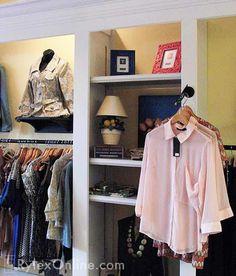clothing store display shelving