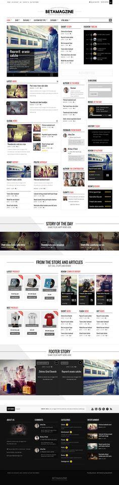 Betamagz - Multipurpose Theme For WP Magazine #webdesign #website Live Preview and Download: http://themeforest.net/item/betamagz-multipurpose-theme-for-wp-magazine/10796227?ref=ksioks