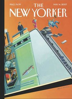 "The New Yorker - Monday, May 14, 2007 - Issue # 4215 - Vol. 83 - N° 12 - « The Innovators Issue » - Cover ""The Ascent of Man"" by Bruce McCall"