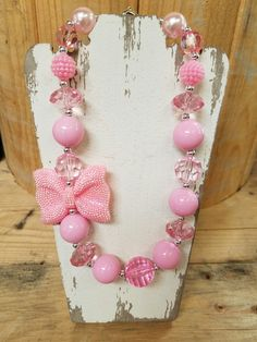 Chunky beaded necklaces for your little diva!