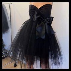 Black Tutu Black Tie Cocktail Dress custom order or in stock. $180.00, via Etsy.