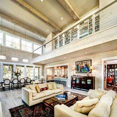Farmhouse Living Room by MSA ARCHITECTURE + INTERIORS