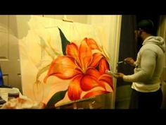 "Making of ""Magnolias"" - Acrylic Painting by Malathi"