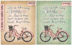 life is like riding a bicycle  choose your color NEW by vol25