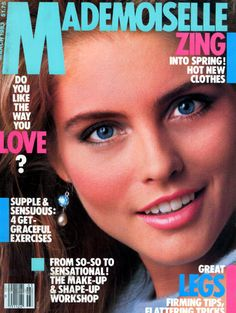 Kim Alexis covers Mademoiselle Magazine (US) March 1983