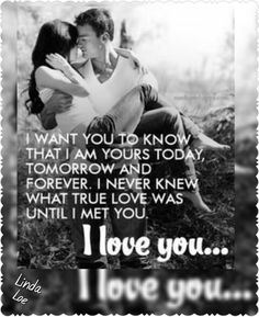 "I want you to know ""I Love You "" ❤..L.Loe"