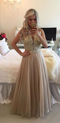 Formal Dress Prom Dress Sheer Illusion A-Line Prom Dresses 2016 Floor Length…