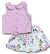 From CWDkids: Tie Front Top & Skirt