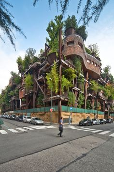 These Amazing Urban Treehouse Apartments Help Protect Residents from Air and Noise Pollution