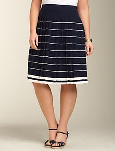 Talbots Nautical Stripe Sweater Skirt