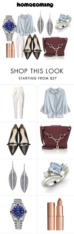 """""""Hogareña"""" by bohemia55 ❤ liked on Polyvore featuring Delpozo, Chicwish, 3.1 Phillip Lim, Alexander Wang, 1928, Diamondere, Rolex and Charlotte Tilbury"""