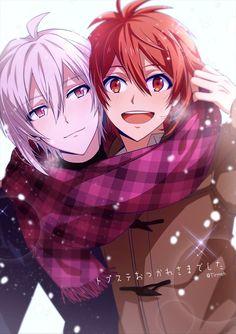 Riku Nanase and Tenn (brothers) Anime Siblings, Anime Child, Anime Couples, Cute Couples, Cute Characters, Anime Characters, Anime Devil, Anime Group, Bishounen