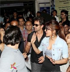 Hrithik & Priyanka during promotions of #Krrish3  #Bollywood
