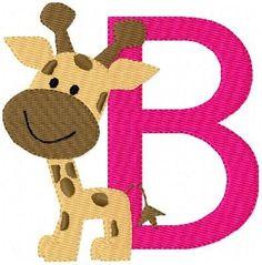 INSTANT DOWNLOAD Giraffe Baby Machine Embroidery Monogram Font Design Set. $16.50, via Etsy.