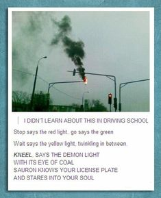I DIDNT LEARN ABOUT THIS IN DRIVERS ED