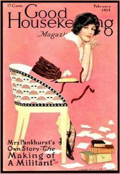 Coles Phillips : Cover art for Good Housekeeping, February 1914 Vintage Ephemera, Vintage Ads, Vintage Images, Vintage Prints, Vintage Posters, Old Magazines, Vintage Magazines, Magazine Illustration, Illustration Art