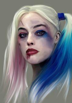 Harley Quinn painting by Jason Longstreet! Prints for SALE!