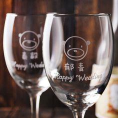 (一對價)270cc【MSA結婚週年紀念紅酒對杯】小熊玻璃雕刻紅酒杯禮組 情人節 結婚禮物