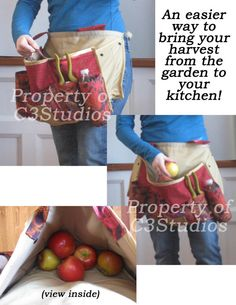 now THAT is a complicated garden apron!