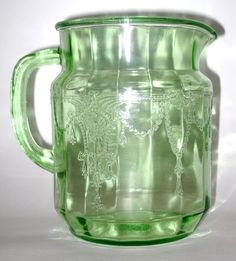 Cameo Green Depression Glass Juice Pitcher