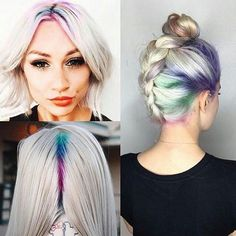 RAINBOW ROOTS Have you tried this with our colour craving yet!!?? #hair #model…