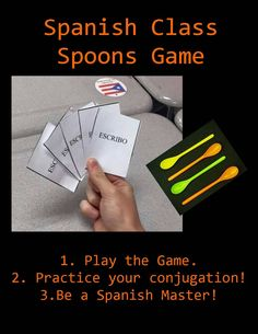 The ULTIMATE Spanish Class Spoons Game! Master your conjugations & have fun doing it!