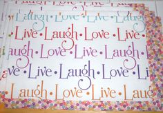 Live Laugh Love 4pc Placemats placemat set by ColdStreamCrafts