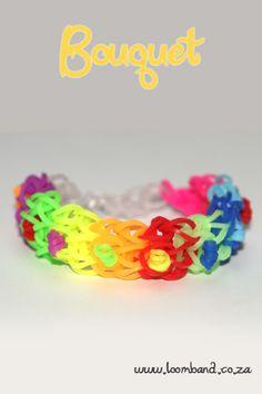 How to make a Bouquet Rainbow Loom band bracelet