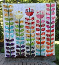 New Hampshire Modern Quilt Guild: Cutting Garden: A Finished Charity Quilt