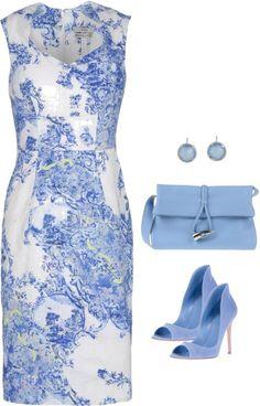 /lovely blue/white dress!