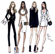 Model Behaviour: Cara, Jourdan, Gigi & Kendall by Hayden Williams