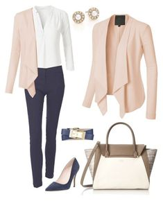 \Everyday Work Outfit\ by le3noclothing liked on Polyvore featuring Oscar de la Renta Vince Camuto LE3NO Kate Spade Tory Burch women's clothing women female woman and misses