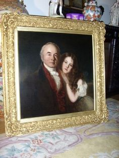 "Cycill Christina Calmady and her maternal grandfather. Langdon Court was in the Calmady family for over 300 years.  "" William Greenwood Esquire - born March 1764  Died April 1844 -Painted by F.R.Say 1833 with his  Grandaughter Cycill C.Calmady,in her 10th year """