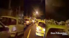 Excelente gesto de parte de los taxistas. Q.E.P.D. los señores policías.