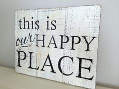 Rustic Wooden Sign - this is our happy place - Reclaimed Pallet Wood - Wall Decor - Family Room Sign - Housewarming Gift