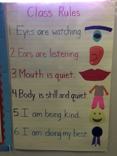 Kindergarten Class Rules @Angela Gray Angers
