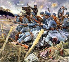 Pinturas de la Gran Guerra 1914-1918 — 1915 Infantería polaca al servicio de...