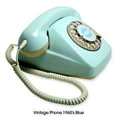 Vintage Phones - 60s blue